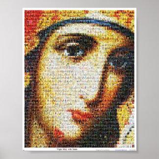 Virgen María con los santos Póster