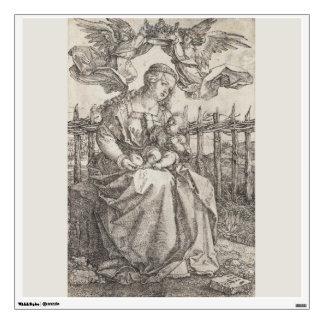 Virgen María coronado por dos ángeles por Durer