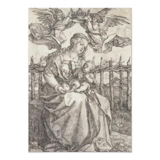 Virgen María coronado por dos ángeles por Durer Comunicado