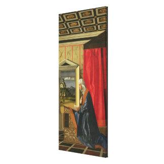 Virgen María, de la díptica del anuncio (aceite en Impresión En Lona Estirada