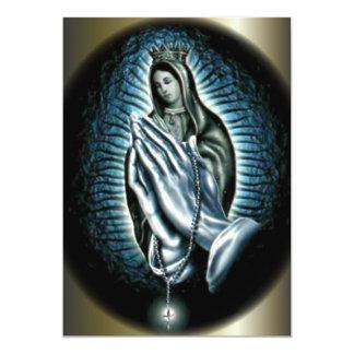 Virgen María de la reina - manos del rezo Anuncio Personalizado