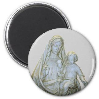 Virgen María Imán Redondo 5 Cm