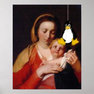VIRGEN MARÍA JESÚS LINUX TUX IMPRESIONES