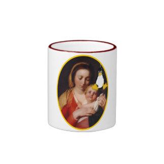 VIRGEN MARÍA JESÚS LINUX TUX TAZA DE CAFÉ