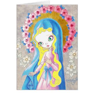 Virgen María nuestra señora Tarjeta De Felicitación