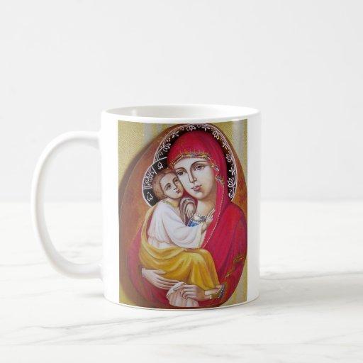 "Virgen María ""Pochaevskaya "" Taza De Café"