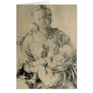 Virgen María que amamanta al niño de Cristo, 1512 Tarjeta De Felicitación