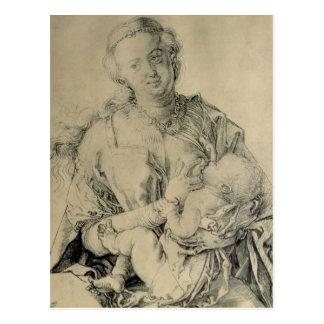 Virgen María que amamanta al niño de Cristo, 1512 Postales