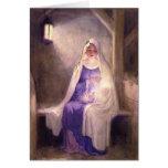 Virgen María que detiene al bebé Jesús 1912 Felicitacion