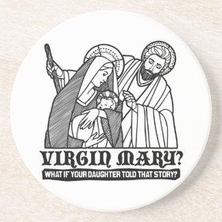 ¿Virgen María? Qué si su hija contó esa historia Posavasos Manualidades