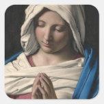 Virgen María/Virgen Maria Pegatina Cuadrada