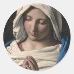 Virgen María/Virgen Maria Pegatina Redonda