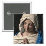 Virgen María/Virgen Maria Pin Cuadrada 5 Cm