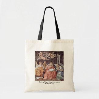Virgen María y ángeles de costura de Reni Guido Bolsa Tela Barata