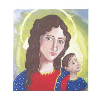Virgen María y bebé Jesús Blocs