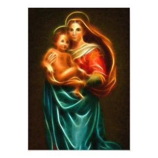 """Virgen María y bebé Jesús Invitación 5"""" X 7"""""""