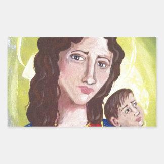Virgen María y bebé Jesús Rectangular Altavoces