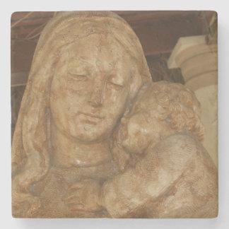 Virgen María y bebé Jesús Posavasos De Piedra