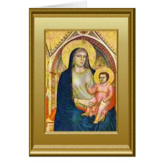 Virgen María y el niño Jesús Tarjeta De Felicitación