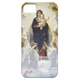 Virgen María y Jesús con ángeles iPhone 5 Carcasas
