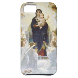 Virgen María y Jesús con ángeles iPhone 5 Case-Mate Cárcasas