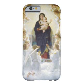 Virgen María y Jesús con ángeles Funda De iPhone 6 Barely There