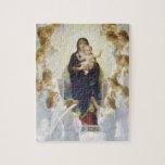 Virgen María y Jesús con ángeles Rompecabezas