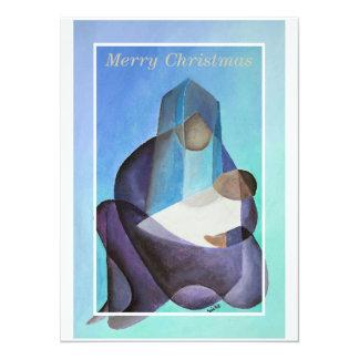Virgen María y niño de las Felices Navidad Comunicados Personales