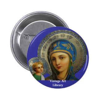 Virgen María y niño Jesús Pin Redondo De 2 Pulgadas