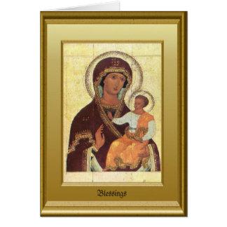 Virgen María y niño Jesús Tarjeta De Felicitación