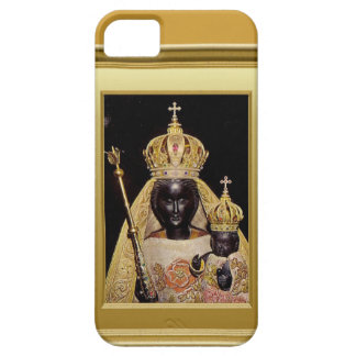 Virgen María y niño negros Jesús iPhone 5 Funda