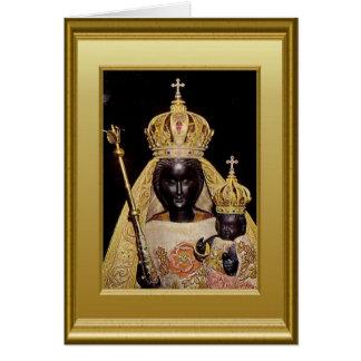 Virgen María y niño negros Jesús Tarjetón