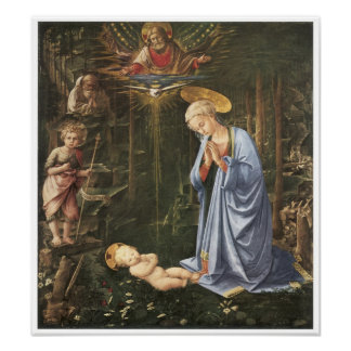 Virgen que adora al niño, 1459 póster