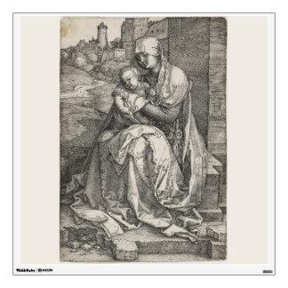 Virgen que se sienta por una pared de Albrecht Dur