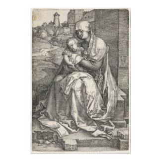 Virgen que se sienta por una pared de Albrecht Dur Fotografia