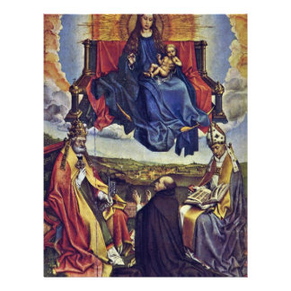 Virgen Santa en gloria de Campin Roberto Tarjetas Informativas