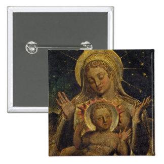 Virgen y niño, 1825 (tempera en el panel) pin cuadrado