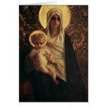 Virgen y niño, 1872 tarjeta de felicitación