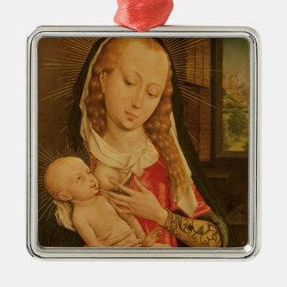 Virgen y niño 2 ornamento de navidad