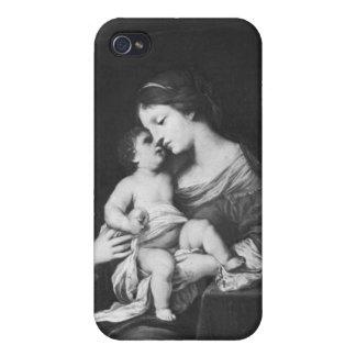 Virgen y niño 3 iPhone 4 carcasas