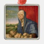 Virgen y niño 3 ornamento de reyes magos