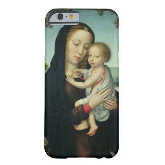 Virgen y niño (aceite en el panel) funda para iPhone 6 barely there