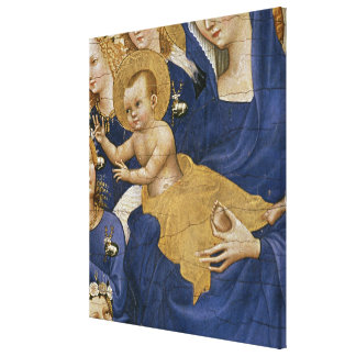 Virgen y niño, c.1395-99 impresiones en lona estiradas