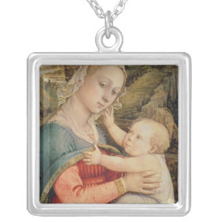 Virgen y niño, c.1465 collar plateado