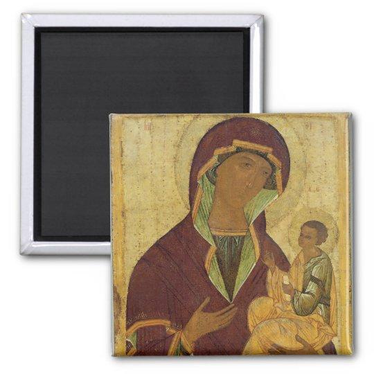 Virgen y niño, c.1500 imán cuadrado