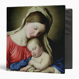 """Virgen y niño carpeta 1 1/2"""""""