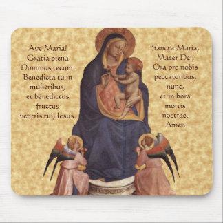 Virgen y niño, cojín de ratón de avenida Maria Alfombrillas De Raton