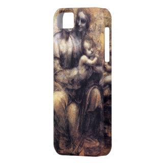 Virgen y niño con el bosquejo de St Anne iPhone 5 Carcasa