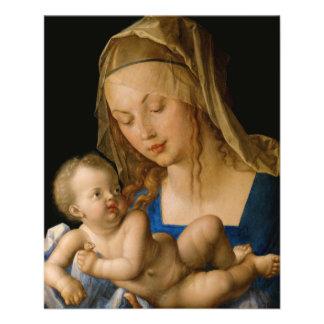 """Virgen y niño con la pera de Albrecht Durer Folleto 4.5"""" X 5.6"""""""