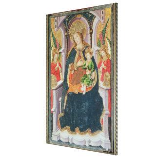 Virgen y niño con los músicos del ángel impresiones en lona estiradas